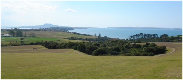 Macleans Park and Rangitoto Island